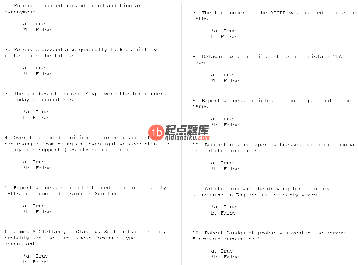 test bank for Forensic & Investigative Accounting 5th Edition的图片 3