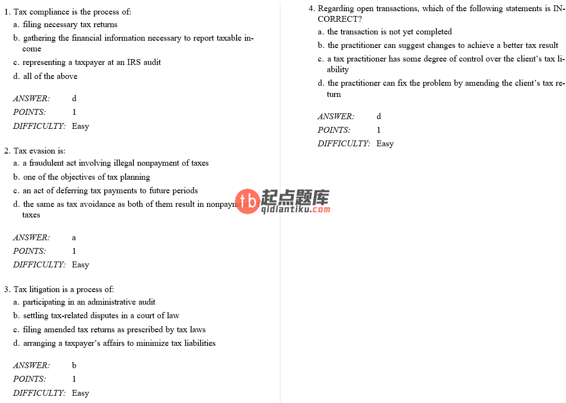 test bank for Federal Tax Research 10th Edition的图片 3