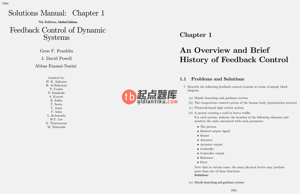 solution manual for Feedback Control of Dynamic Systems 7th Global Edition的图片 3