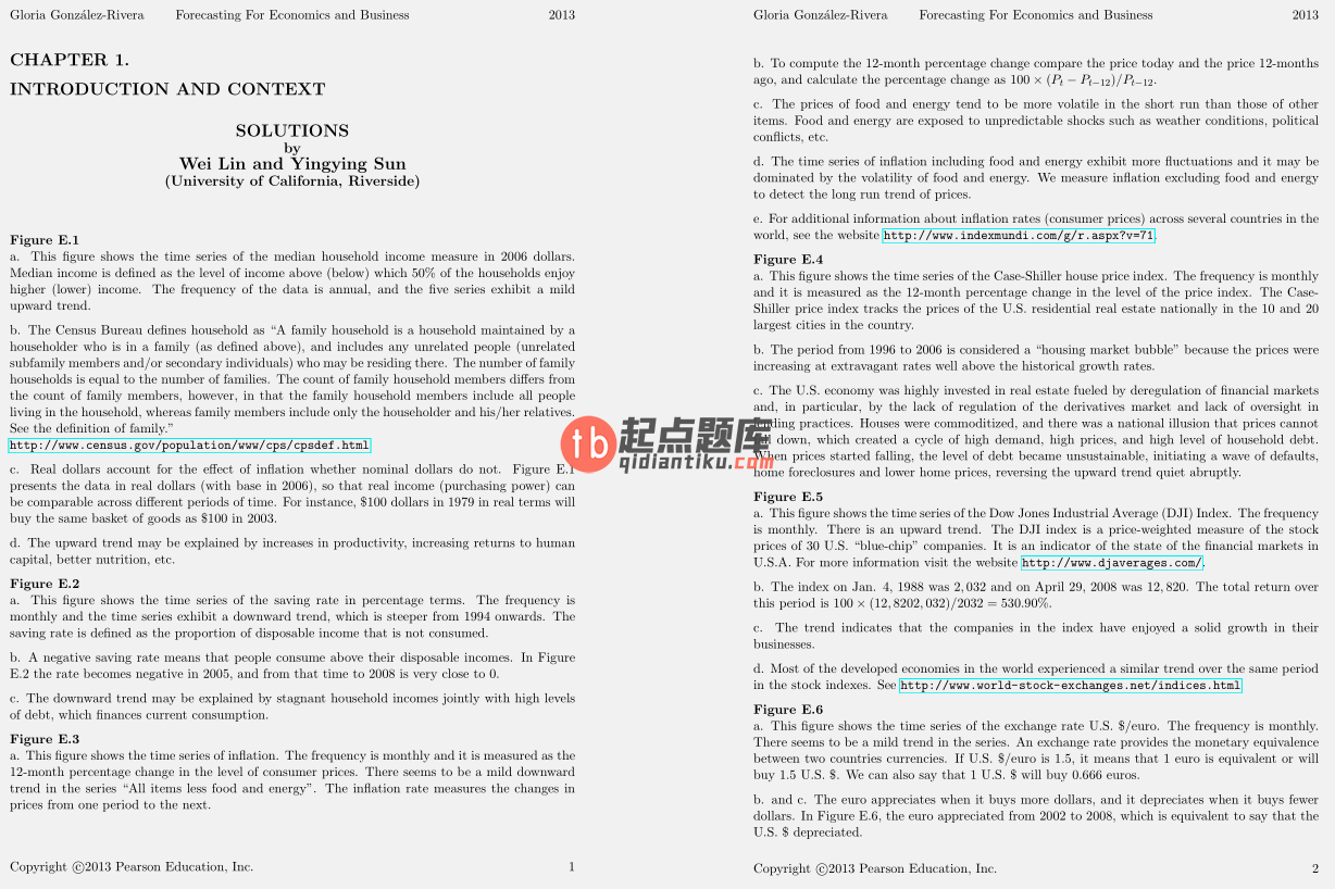 solution manual for Forecasting for Economics and Business 1st Edition的图片 3
