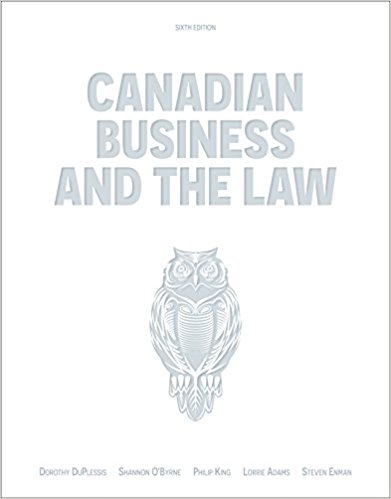 test bank for Canadian Business and the Law 6th Edition的图片 1
