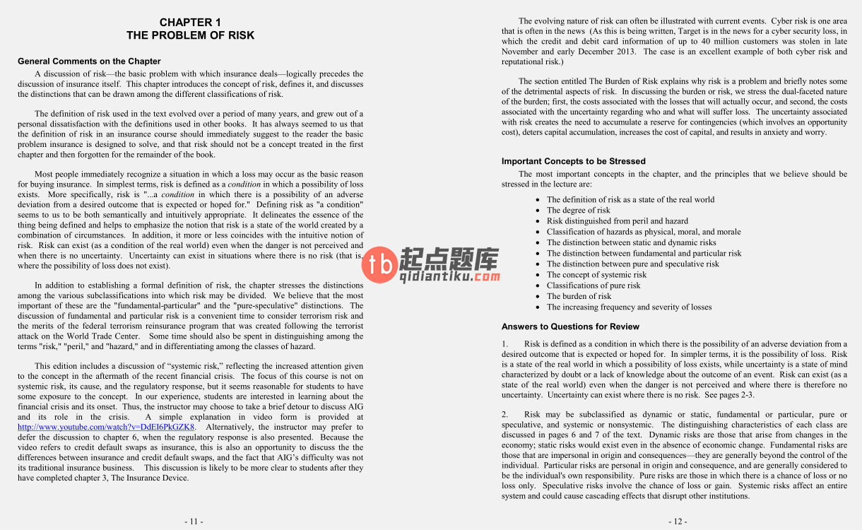solution manual for Fundamentals of Risk and Insurance 11th Edition的图片 3