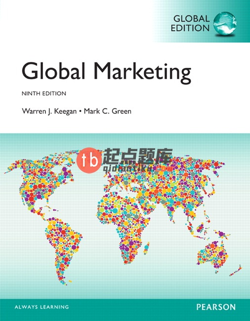 test bank for Global Marketing 9th Global Edition的图片 1