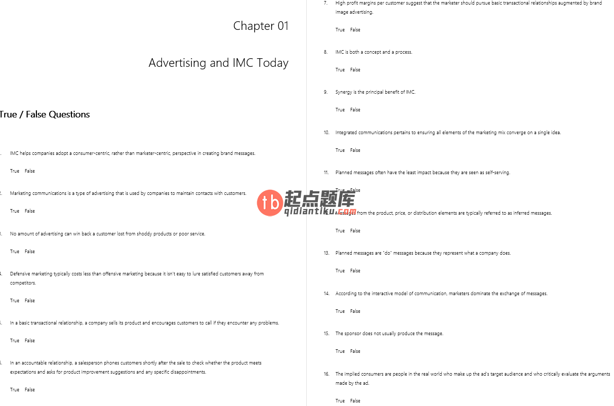 test bank for Contemporary Advertising and Integrated Marketing Communications 15th edition的图片 3