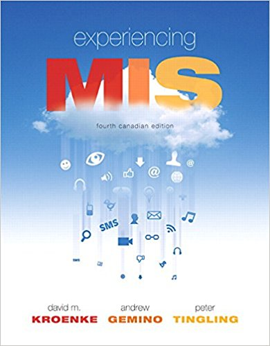 solution manual for Experiencing MIS 4th Canadian Edition的图片 1