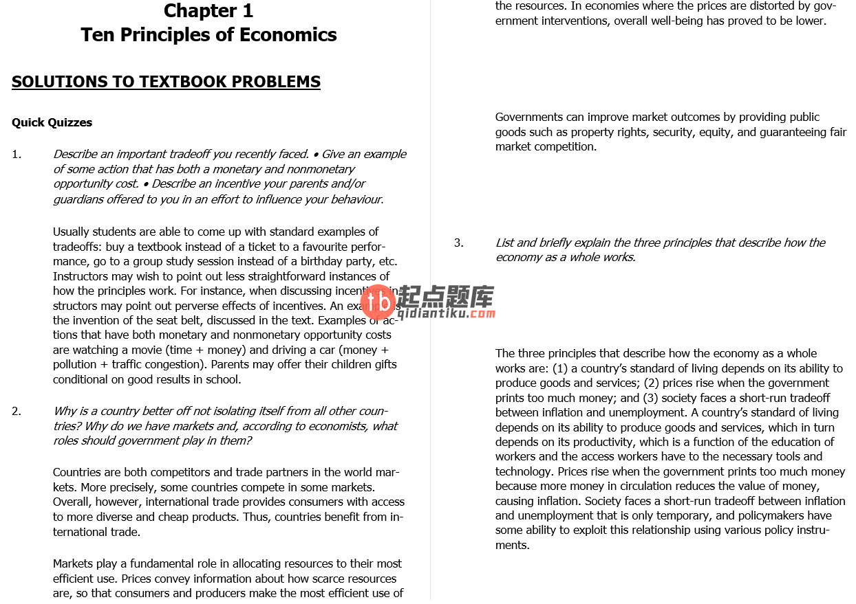 solution manual for Principles of Macroeconomics 7th Canadian Edition的图片 3