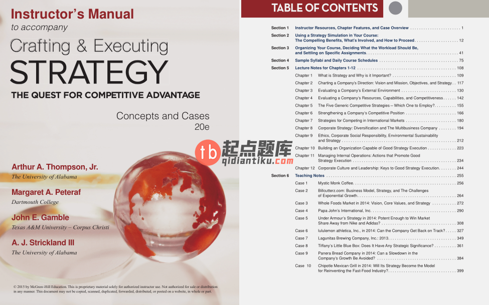solution manual for Crafting and Executing Strategy: The Quest for Competitive Advantage: Concepts and Cases 20th Edition的图片 3