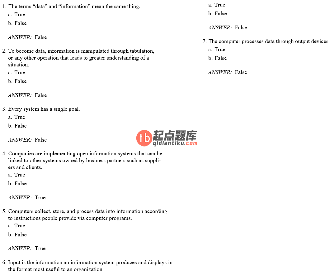 test bank for Management Information Systems 7th Edition的图片 3