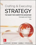test bank for Crafting & Executing Strategy: The Quest for Competitive Advantage: Concepts and Cases 20th Edition