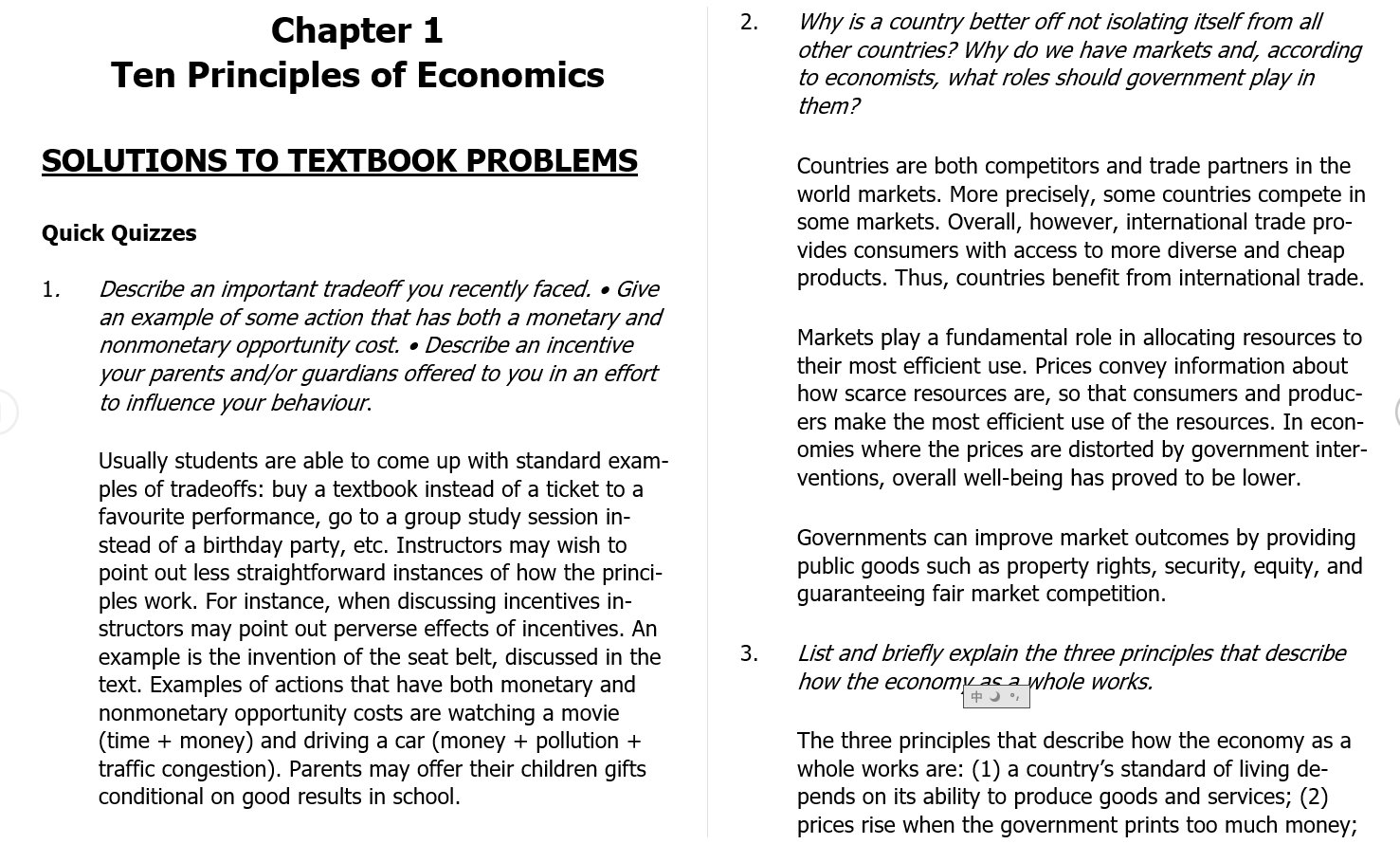 solution manual for Principles of Miro Economics 7th Canadian Edition的图片 3
