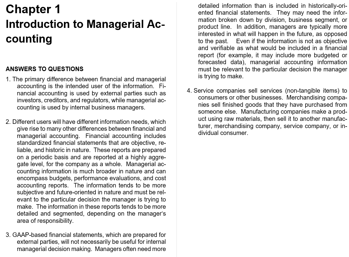 solution manual for Managerial Accounting 3rd Edition的图片 3