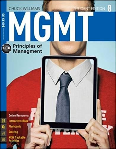 test bank for MGMT: Principles of Management 8th Edition的图片 1