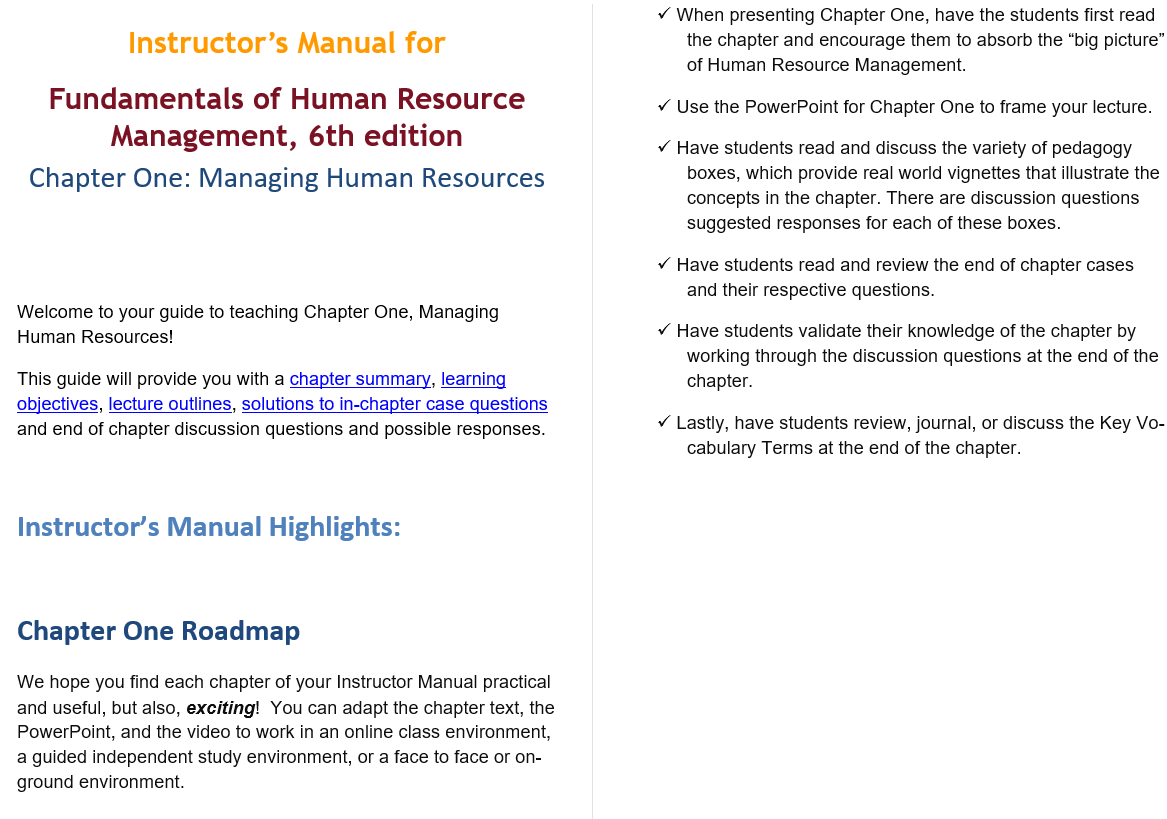 solution manual for Fundamentals of Human Resource Management 6th Edition的图片 3