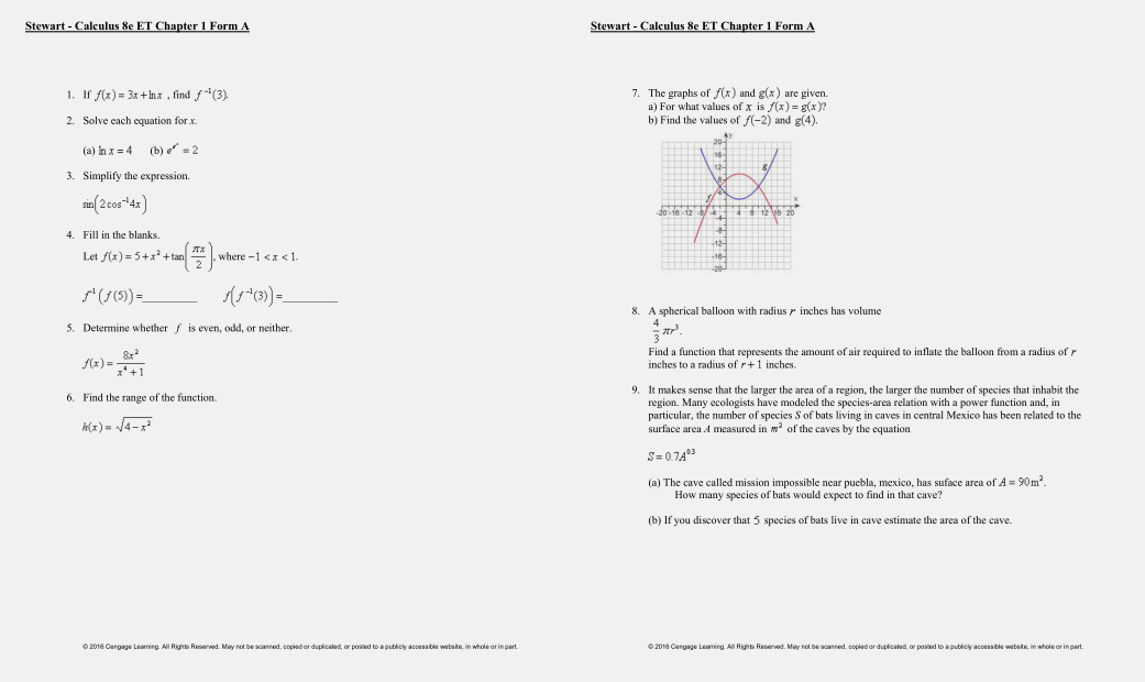 test bank for Calculus: Early Transcendentals 8th Edition的图片 3