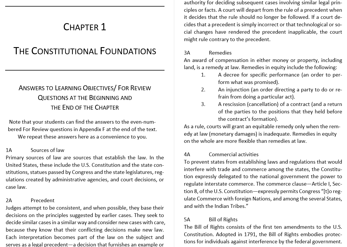 solution manual for Business Law Today The Essentials: Text and Summarized Cases 10th Edition的图片 4