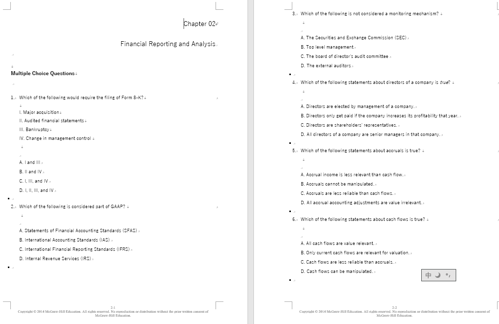 test bank for Financial Statement Analysis 11th Edition的图片 3