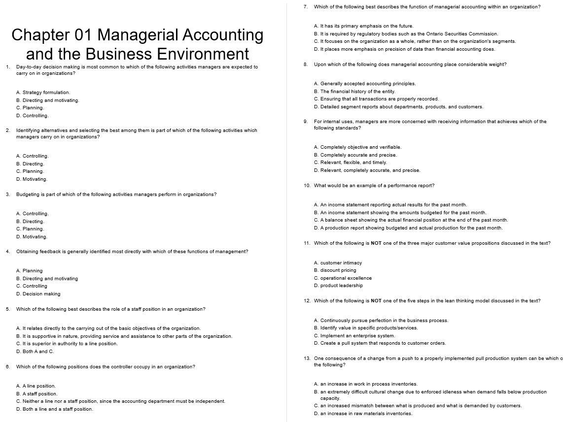 test bank for Managerial Accounting 9th Canadian Edition的图片 3