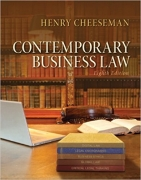 solution manual for Contemporary Business Law 8th Edition