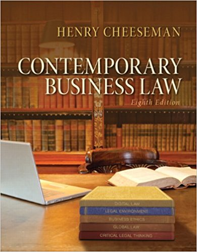 test bank for Contemporary Business Law 8th Edition的图片 1