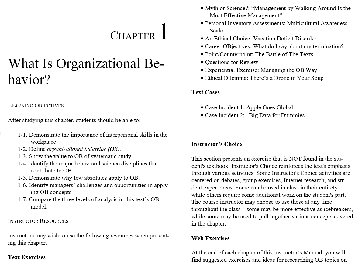 solution manual for Organizational Behavior 17th Edition的图片 3