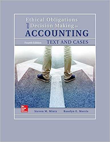 solution manual for Ethical Obligations and Decision-Making in Accounting: Text and Cases 4th Edition的图片 1