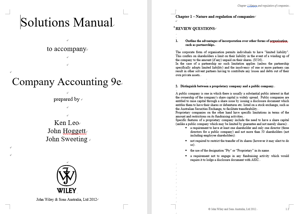 solution manual for Company Accounting 9th Edition的图片 3