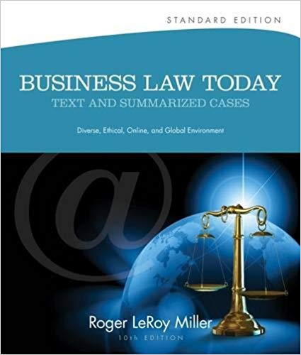 test bank for Business Law Today, Standard: Text and Summarized Cases 10th Edition的图片 1