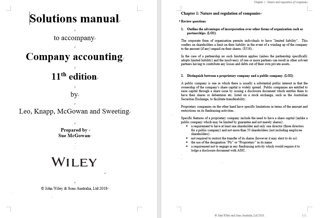 solution manual for Company Accounting 11th Edition的图片 3