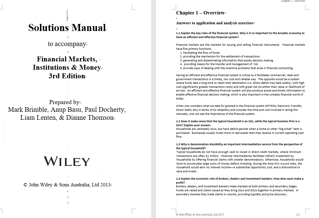 solution manual for Financial Markets Institutions and Money 3rd Edition的图片 3
