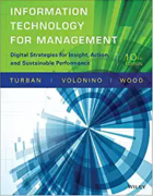 test bank for Information Technology for Management: Digital Strategies for Insight, Action, and Sustainable Performance 10th Edition