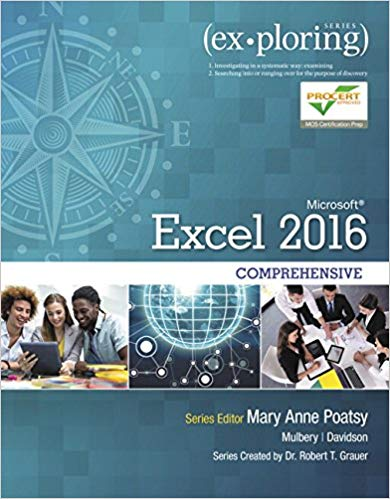 solution manual for Exploring Microsoft Office Excel 2016 Comprehensive的图片 1