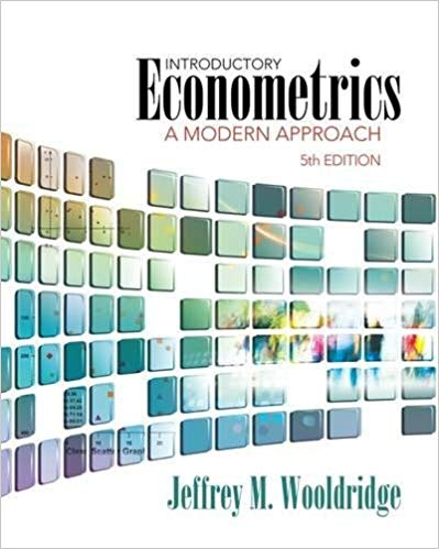 test bank for Introductory Econometrics A Modern 5th edition的图片 1