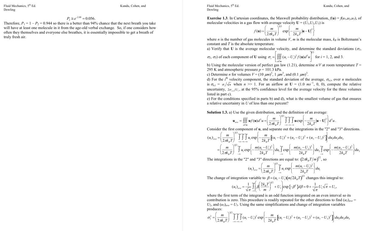 solution manual for Fluid Mechanics 5th Edition的图片 3