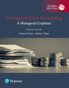 solution manual for Horngren's Cost Accounting: A Managerial Emphasis 16th Global Edition的图片 1