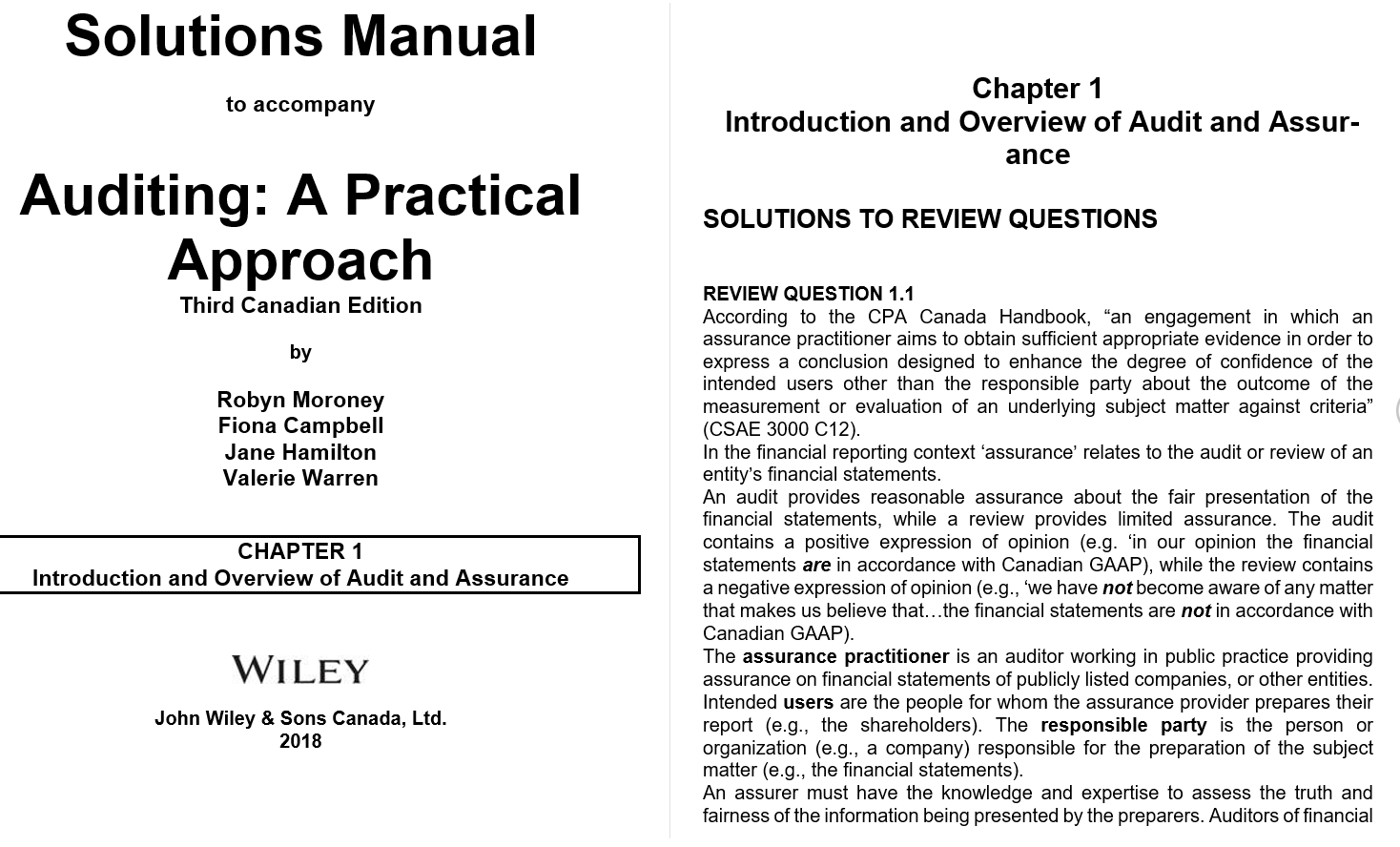 solution manual for Auditing: A Practical Approach 3rd Canadian Edition的图片 3