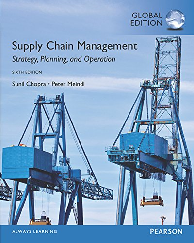 solution manual for Supply Chain Management: Strategy, Planning, and Operation 6th Global Edition的图片 1