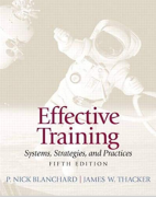 test bank for Effective Training 5th Edition