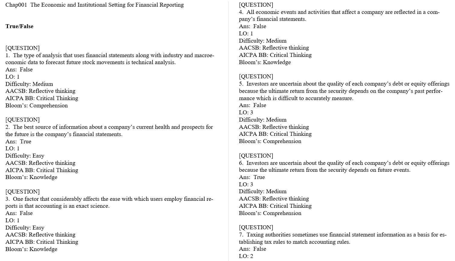 test bank for Financial Reporting and Analysis 6th Edition的图片 3