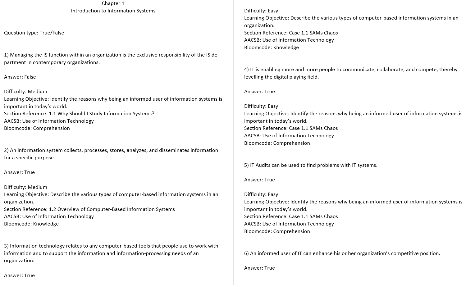 test bank for Introduction to Information Systems 4th Canadian Edition的图片 3