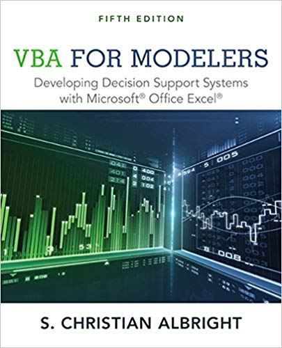 solution manual for VBA for Modelers: Developing Decision Support Systems with Microsoft Office Excel 5th Edition的图片 1