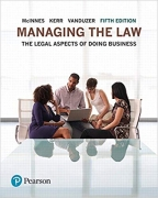 test bank for Managing the Law: The Legal Aspects of Doing Business 5th Edition