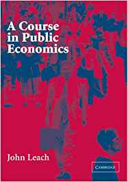 solution manual for A Course in Public Economics by John Leach的图片 1