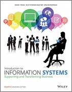 test bank for Introduction to Information Systems 4th Canadian Edition
