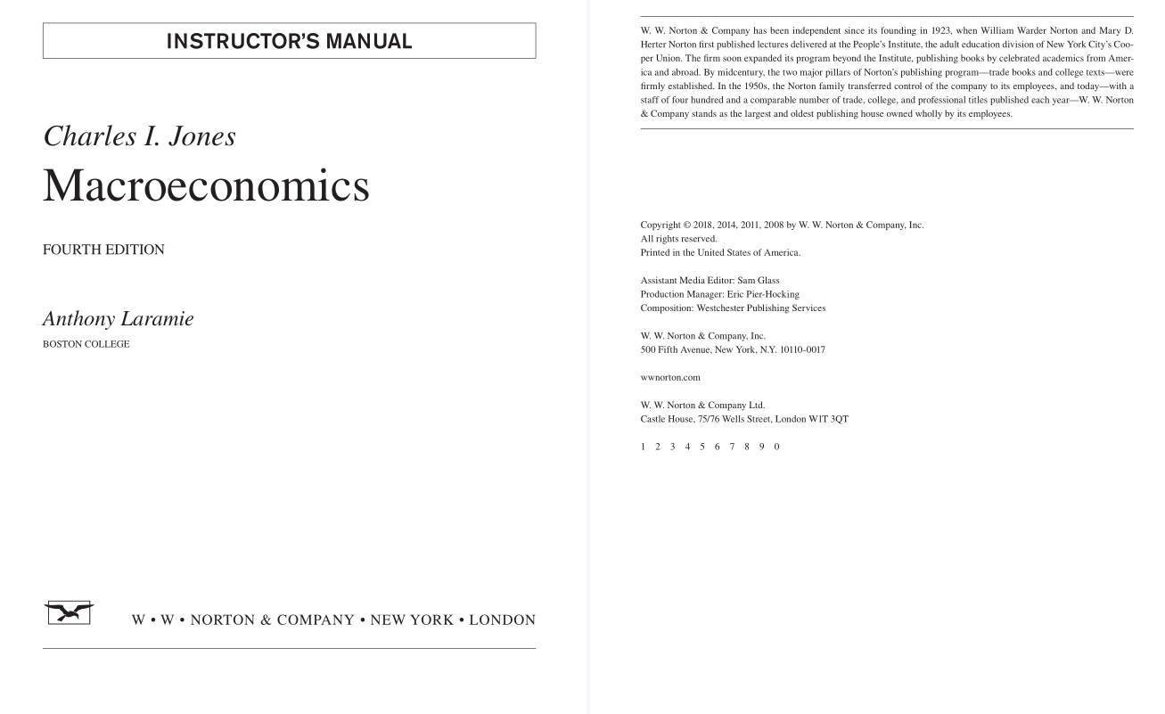 solution manual for Macroeconomics 4th Edition by Charles I. Jones的图片 2