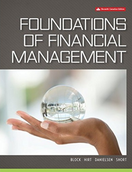 solution manual for Foundations of Financial Management 11th Canadian Edition的图片 1