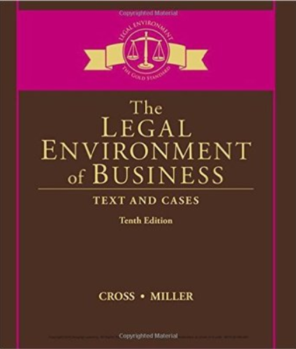 test bank for The Legal Environment of Business: Text and Cases 10th Edition的图片 1