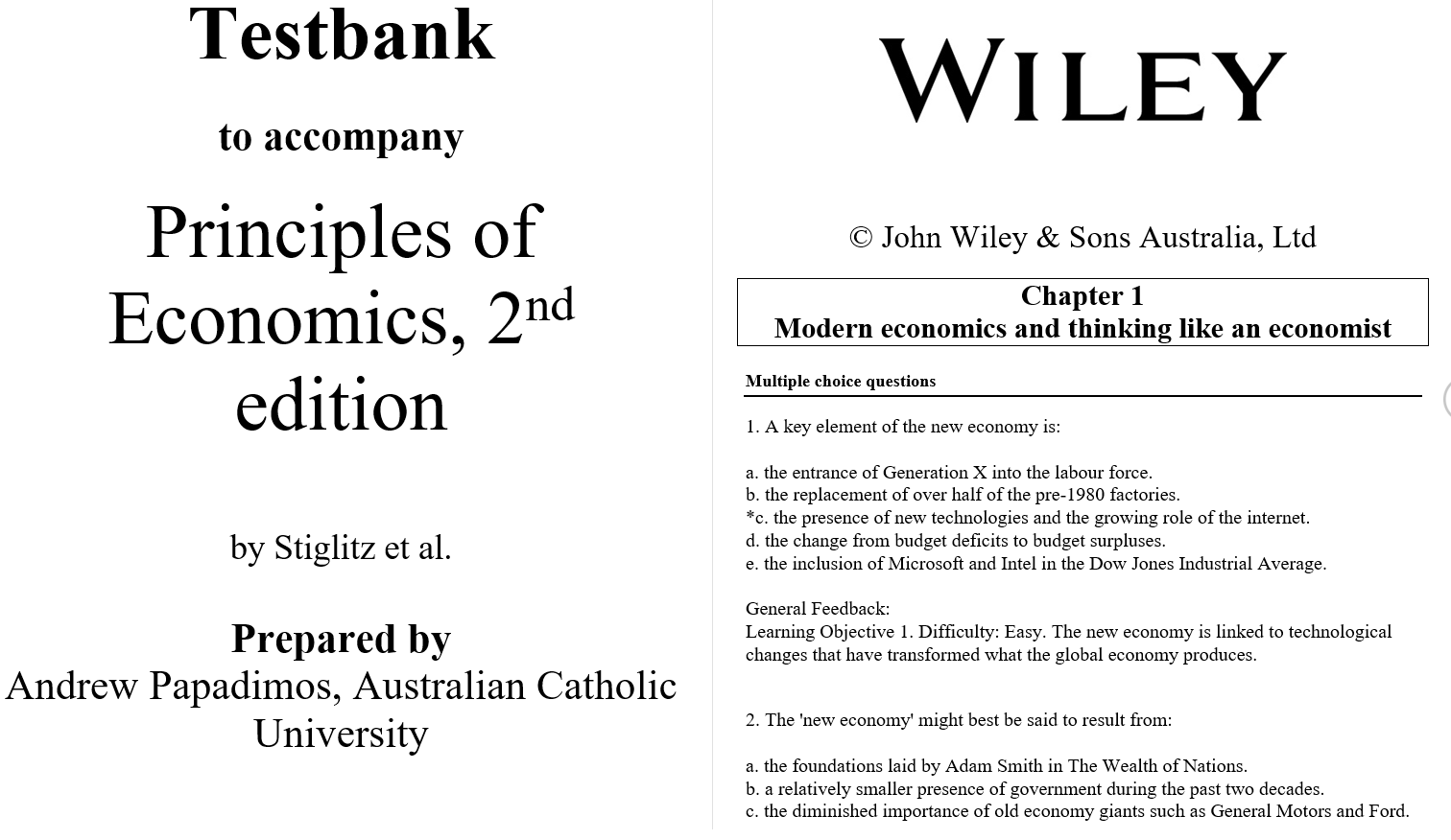 test bank for Principles of Economics 2nd Australian Edition的图片 3