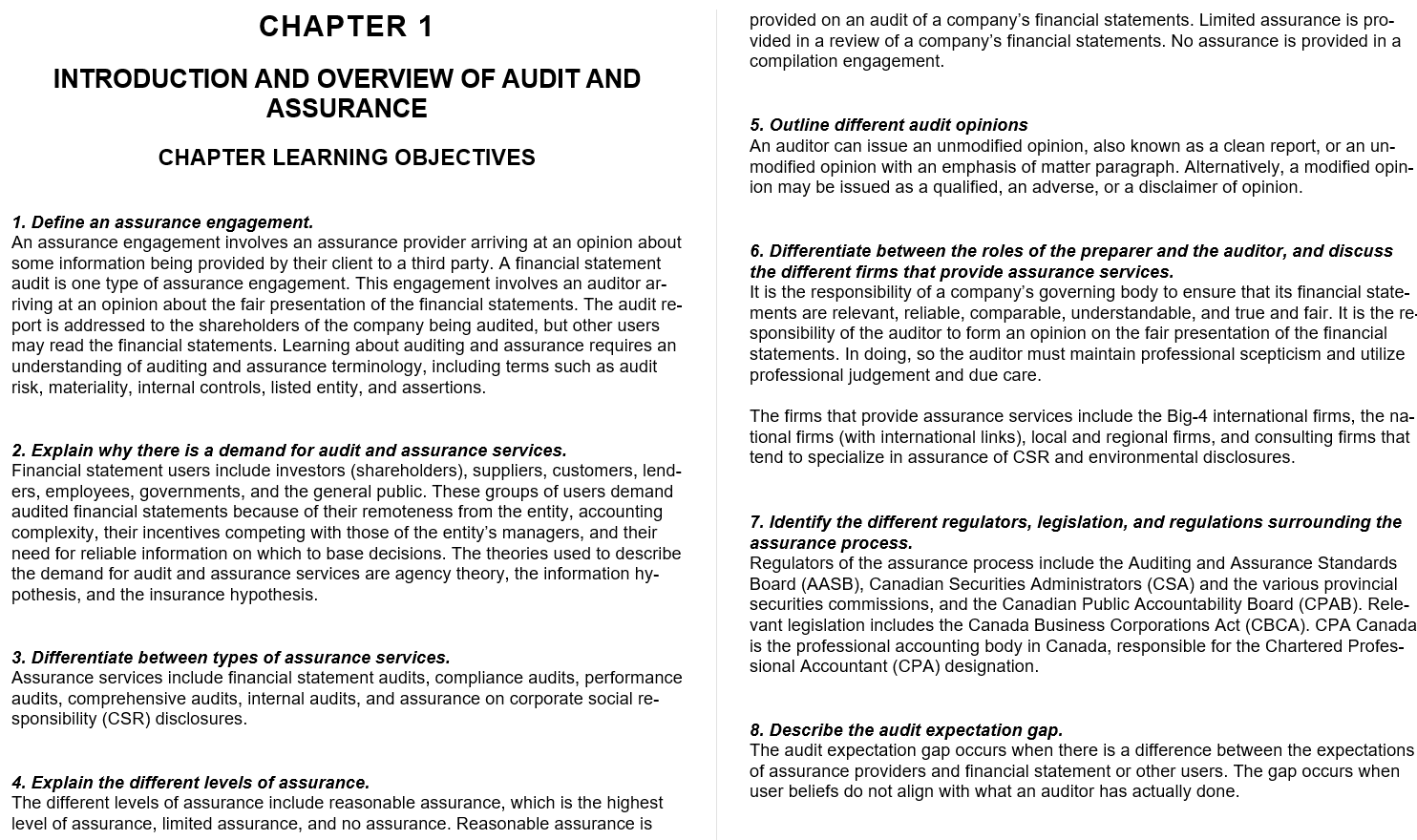 test bank for Auditing: A Practical Approach 3rd Canadian Edition的图片 3