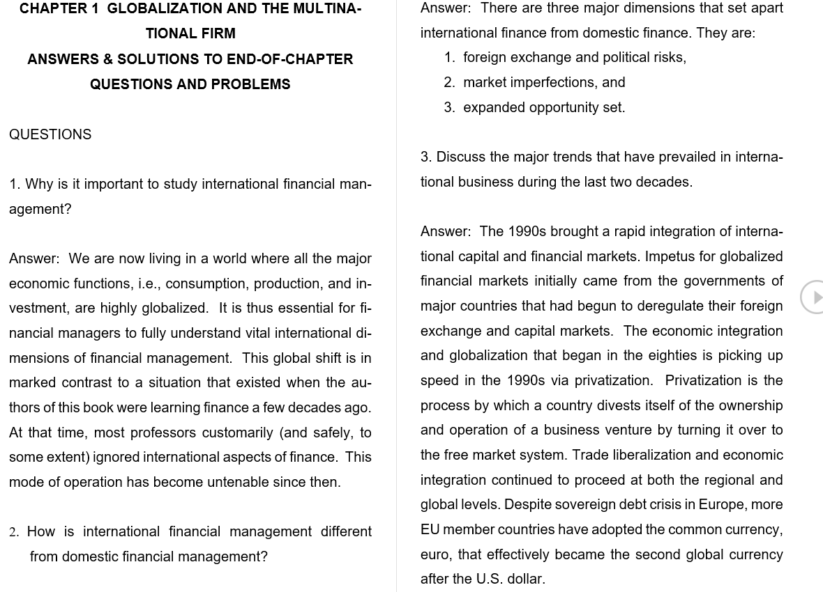 solution manual for International Finance 7th Global Edition的图片 3