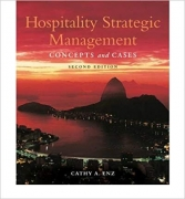 test bank for Hospitality Strategic Management: Concepts and Cases 2nd Edition